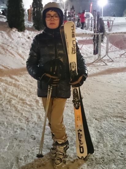 Ange-Marie prêt à skier