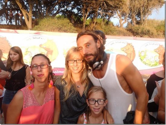 Bob Sinclar avec Emelyne, Stella et Maëlle