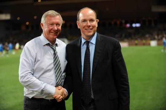 Alex Ferguson et SAS Albert de Monaco