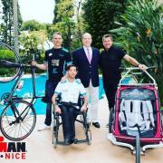 Pascal, Kevin, Christophe Santini et Prince Albert