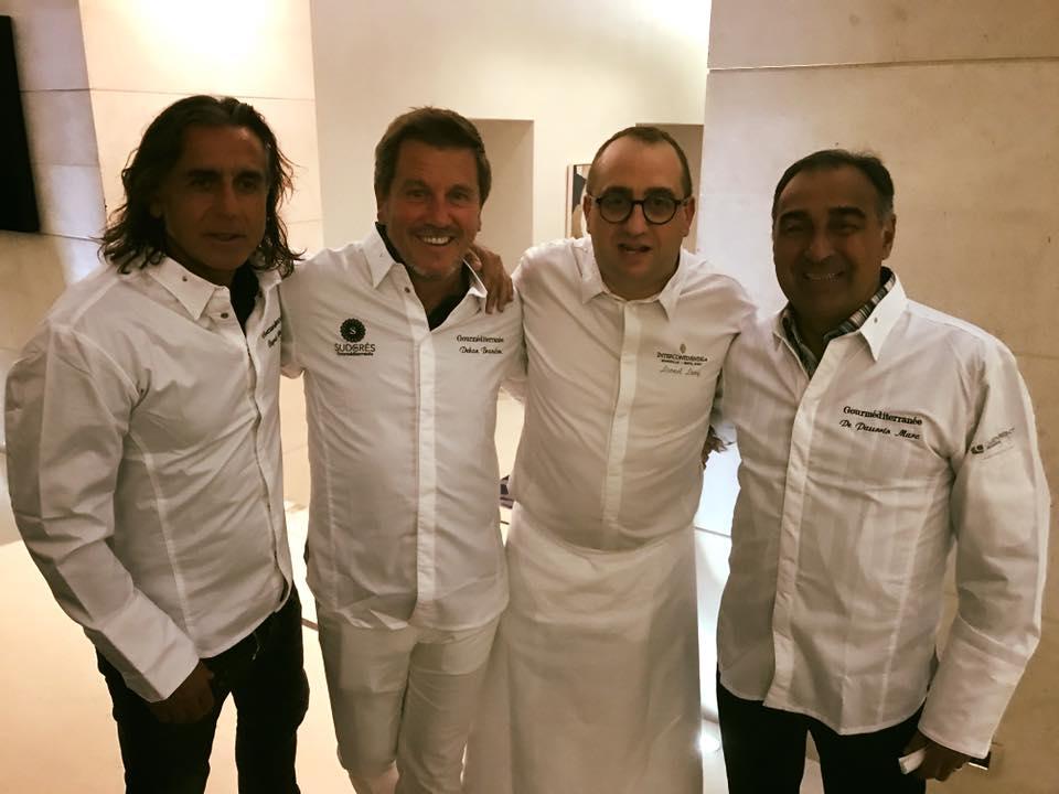 Marcel Dib, Pascal Olmeta, Lionel Levy et Bernard Pardo
