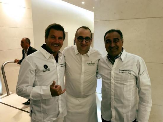 Pascal Olmeta, le chef Lionel Levy et Bernard Pardo